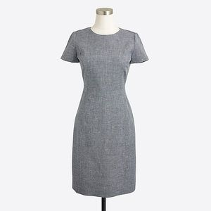 J.Crew Factory   dobby cap-sleeve dress 4